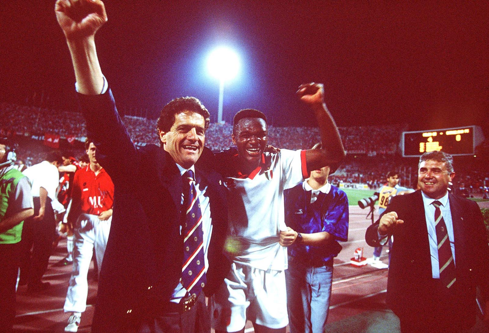 Snapshot Classic Fabio Capello and Marcel Desailly celebrate