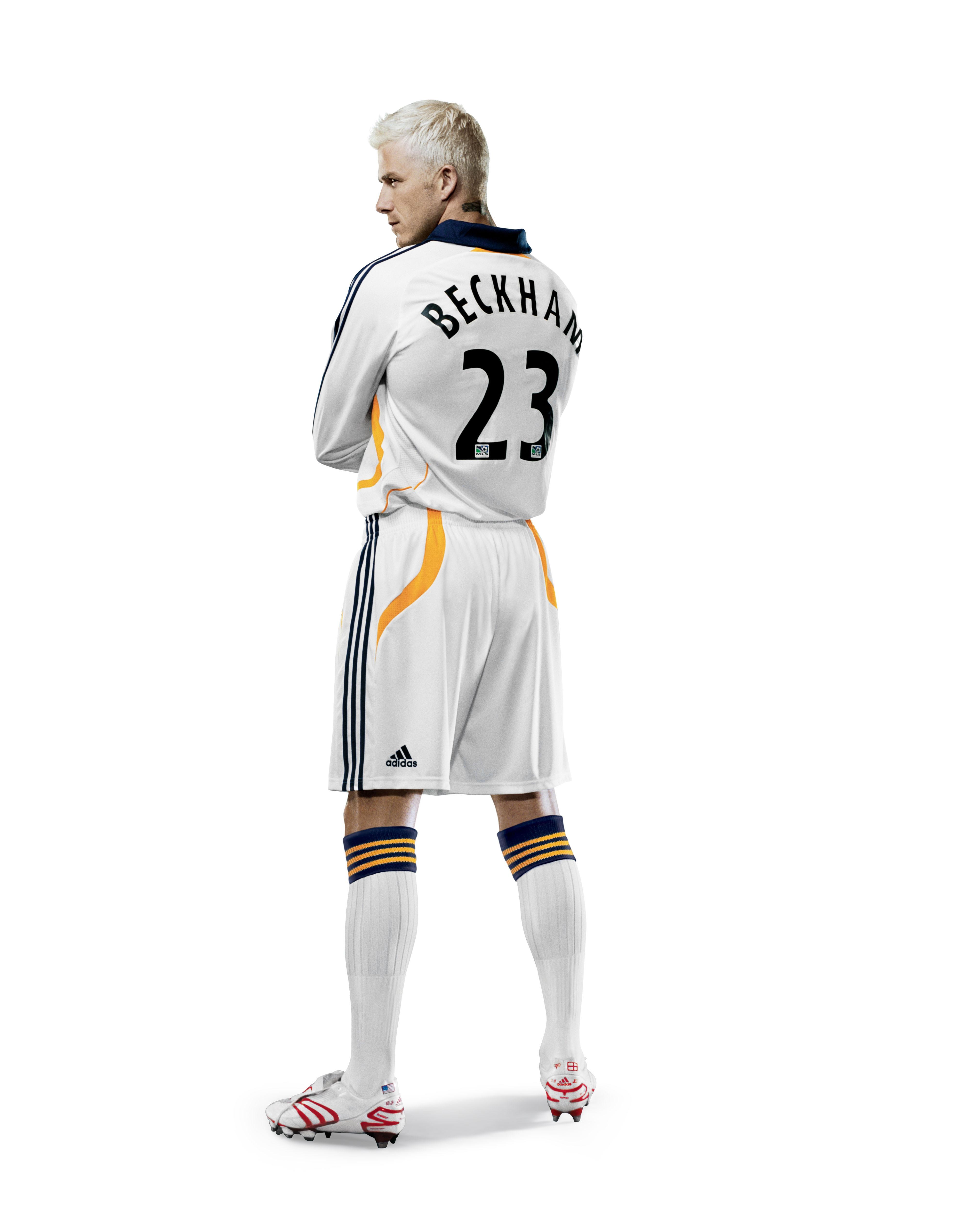 The Snapshot Special David Beckham S New Adidas La Galaxy