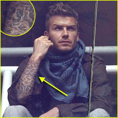 David Beckham New Wentworth Miller Tattoo