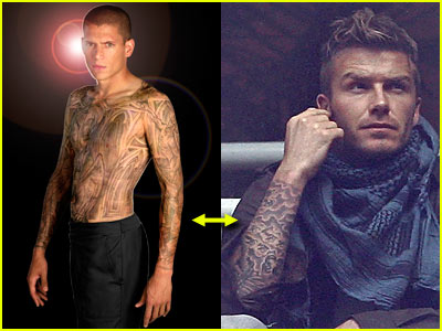 David Beckham Wentworth Miller Tattoo
