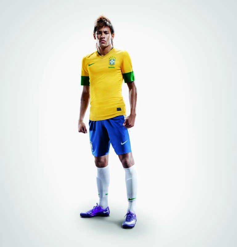 Brazilie thuisshirt 2012-2013
