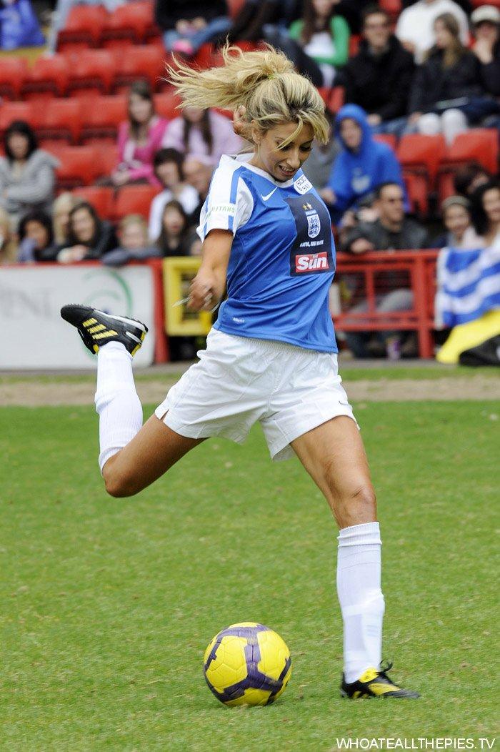 Celebrity Soccer Six match, held at West Ham Football Club ...
