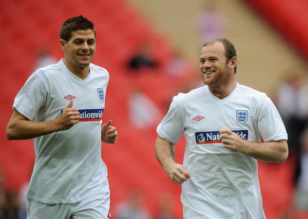Gerrard Rooney England training