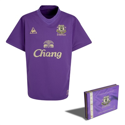 New Everton purple and gold charity kit is fastest-selling in club&#8217;s history