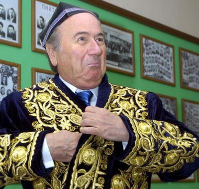 Sepp Blatter visits Tashkent