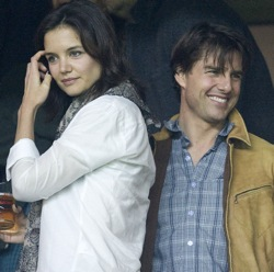 Celeb Balls: Tom Cruise and Katie Holmes guests at Sevilla v Rangers Champions League match (with photos)