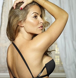 Frank Lampard's ex-WAG models crazy new bra