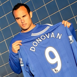 More photos of Landon Donovan in Everton blue