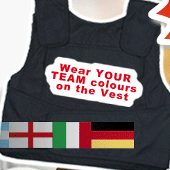 England stab vest on sale for 2010 World Cup, Adebayor 'can't eat' after Togo ambush, Man City's new Italian menu