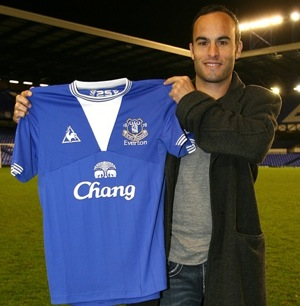 Landon Donovan unveiled at Everton (with photos)