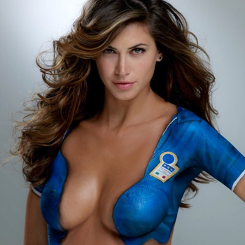 Football WAGs Pose Naked (With Body Paint) For Sports Illustrated's 2010 Swimsuit Issue