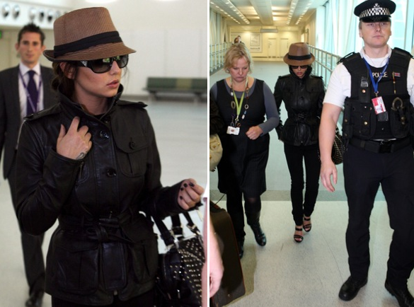 cheryl cole airport