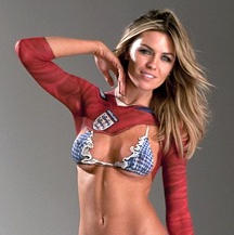 GIF Of The Day: WAG Abbey Clancy Naked In Bodypaint For Sports Illustrated