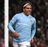 Photos: Man City 3-0 Wigan – Carlos Tevez Scores 12-Minute Hat-Trick