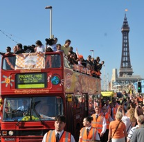 In Pictures: Blackpool Celebrate Promotion With Open-Top Bus Parade