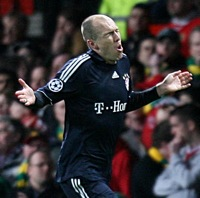 Top 10 Goals Of The Season, No.5 – Arjen Robben, Man Utd v BAYERN MUNICH, Champions League