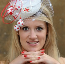 Miss Wiltshire Rocks England World Cup Hat For Royal Ascot