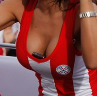 Who Plundered Larissa Riquelme's Cleavage?