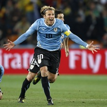 World Cup Photos: Uruguay 1-1 Ghana (Uruguay Win 4-2 On Penalties) – Panto Villain Luis Suarez Claims New 'Hand Of God'