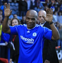 Boxing Legend Mike Tyson Shows Up At Peterborough v West Ham Friendly