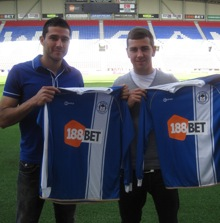 Snapshot: Wigan Show Off New Signings Alcaraz And McArthur