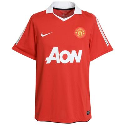 New manchester united home kit for 2010 11 much better for Manchester united shirt sponsor