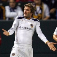 Video: David Beckham Makes Comeback For LA Galaxy v Columbus Crew, Booked In Five Minutes