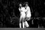 With Ricky Villa, FA Cup semi replay v Wolves in 1981