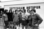 With Keith Burkinshaw and other Spurs players in July 1976