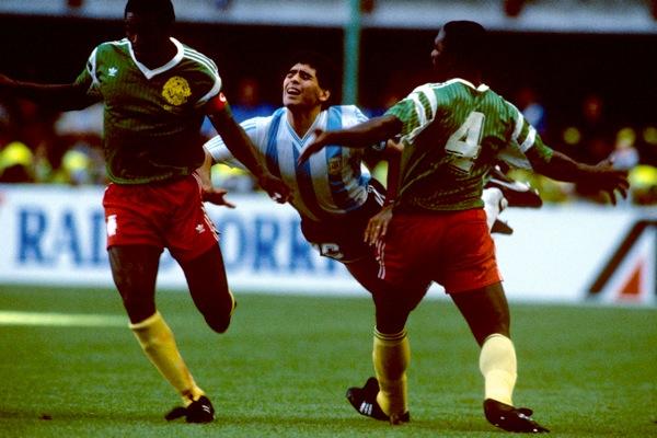 Resultado de imagen de maradona camerun 1990