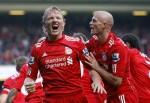 Liverpool v Sunderland - Kuyt celebrates