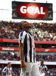 Arsenal v West Brom -  Jerome Thomas celebrates