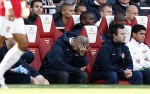 Arsenal v West Brom - Wenger dejected