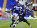 Birmingham v Wigan -Nikola Zigic and Hendry Thomas