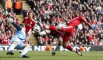 Liverpool v Sunderland - David Ngog shoots