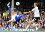 Fulham v Everton - Tim Cahill takes overhead shot