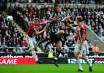 Newcastle v Stoke - Andy Carroll heads