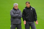 Fulham Training - Mark Hughes and coach Eddie Niedzwiecki