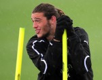 Newcastle United Training Session - Andy Carroll on pole