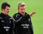 Newcastle United Training Session - Joey Barton and Alan Smith, best buds