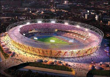 An Aerial view of the Olympic stadium.