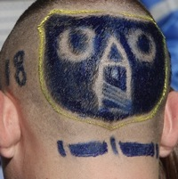 Horror Hair: Everton Fan Rocks Sketchy Club Crest