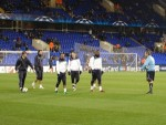 Spurs warming up