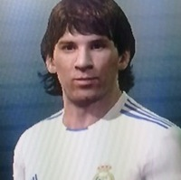 PES 2011 FAIL &#8211; Lionel Messi Plays For Real Madrid