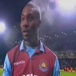 Carlton Cole Steams After West Ham Carling Cup Win (Video)