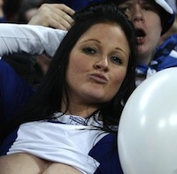 Birmingham City Fan Celebrates Carling Cup Final Win By Flashing Breasts (NSFW)