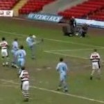 Football GIF: Chris Brass And His Immortal Own-Face Own-Goal