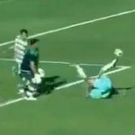 Tunisian Striker Stumbles, Falls On His Back, Scores Incredible Goal (Video)