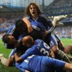 Football GIF: Chelsea Celebrate Fernando Torres' First Goal With Human Pyramid
