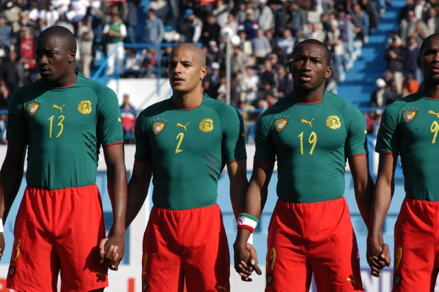 72565d0b6 FIFA banned Cameroon from wearing the kit in the knock-out stages